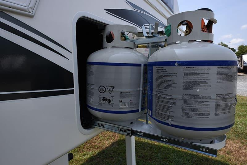 Northern Lite 8-11 propane compartment