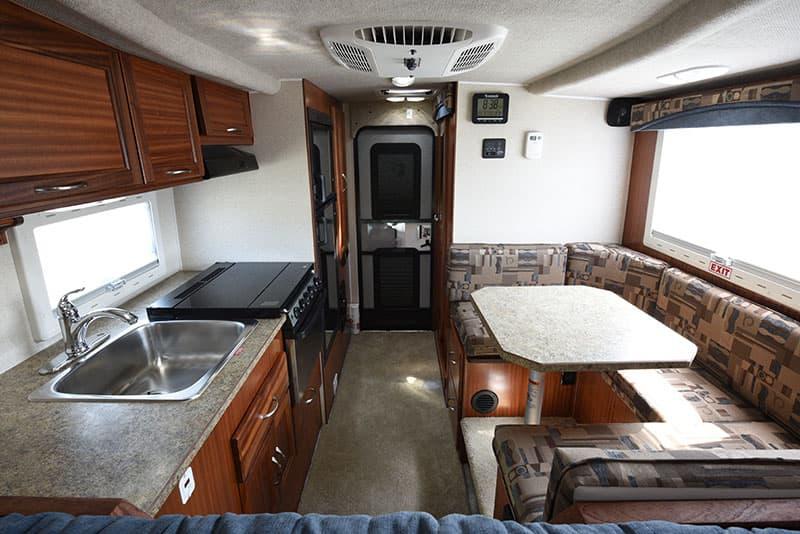 Northern Lite 8-11 EX camper kitchen and dinette