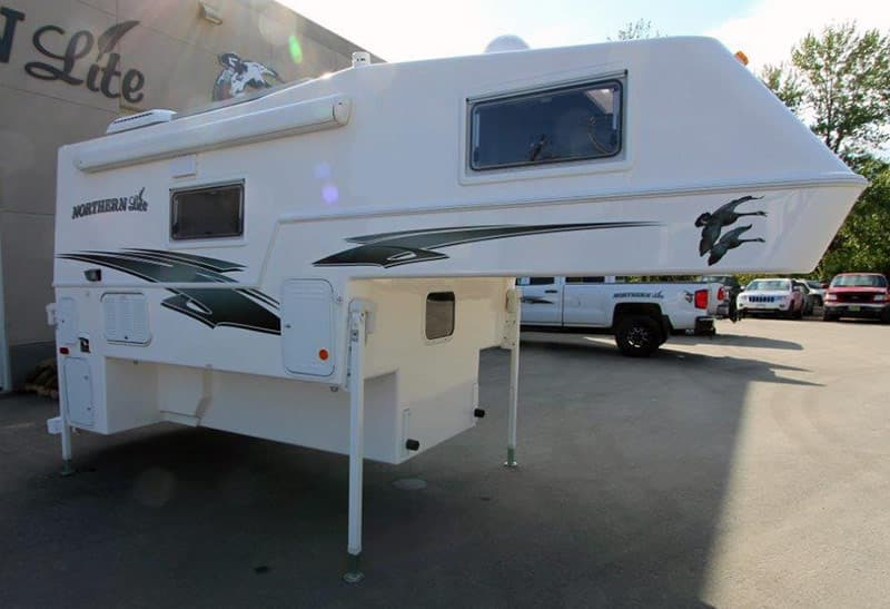 Northern Lite 8-11 EX camper at the factory