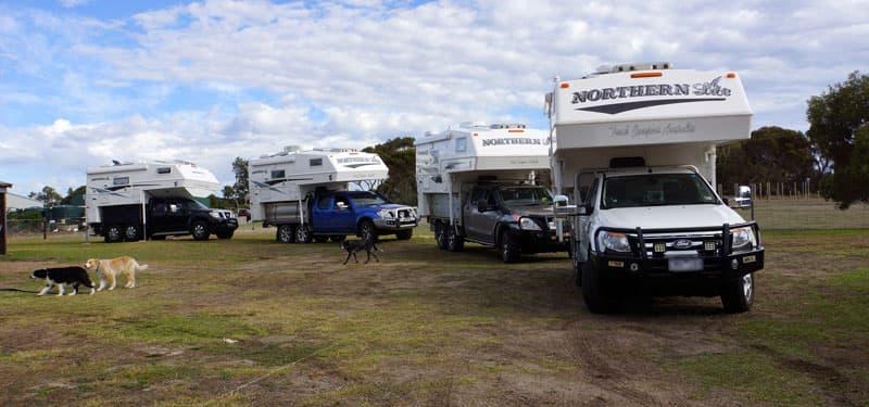 Northern Lite camper gathering in Australia