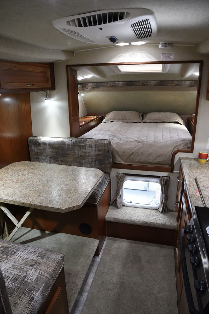 Northern Lite camper bedroom