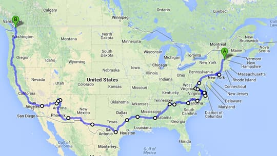 The Open Road of Life Truck Camper Magazine – Travels With Charley Map