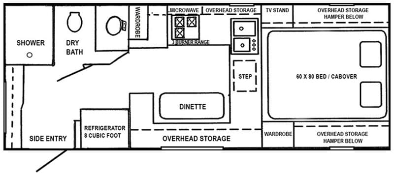 Northstar 12STC Floor Plan 800