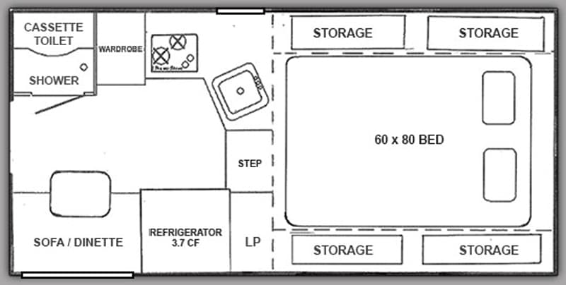 Northstar 650SC floor plan