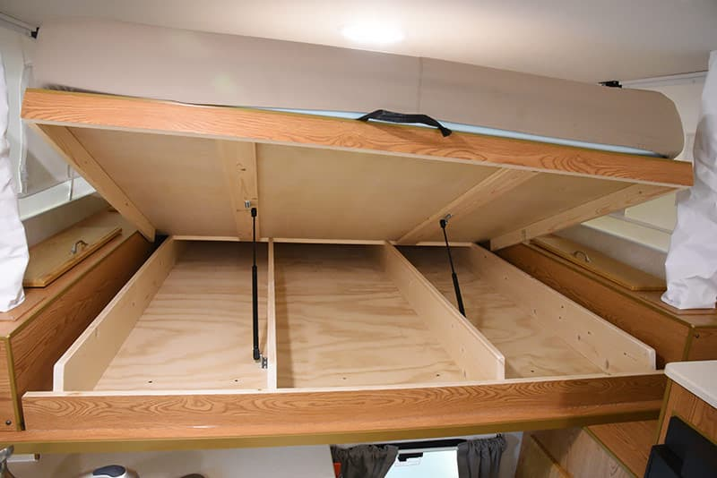 Northstar 650SC underbed storage in cabover