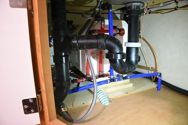 Northstar 650SC kitchen under sink plumbing