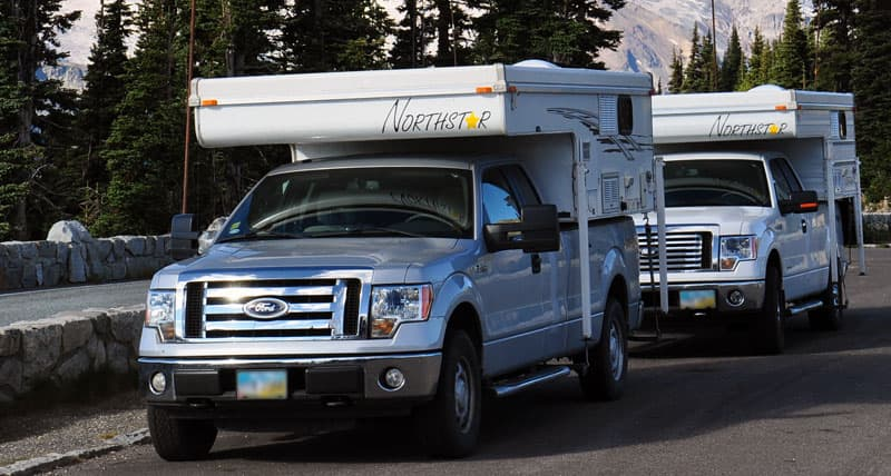 Northstar pop-up campers on Ford F150