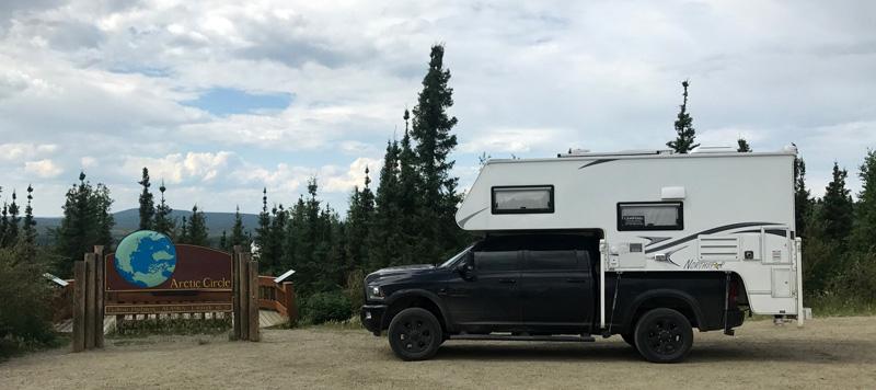 Northstar Camper At Arctic Circle Sign