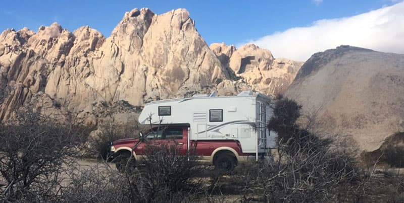 Picking up dust in Mohave National Preserve