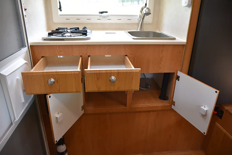 Kitchen drawers in the Northstar Vista
