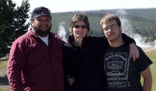two-track-road-yellowstone-family