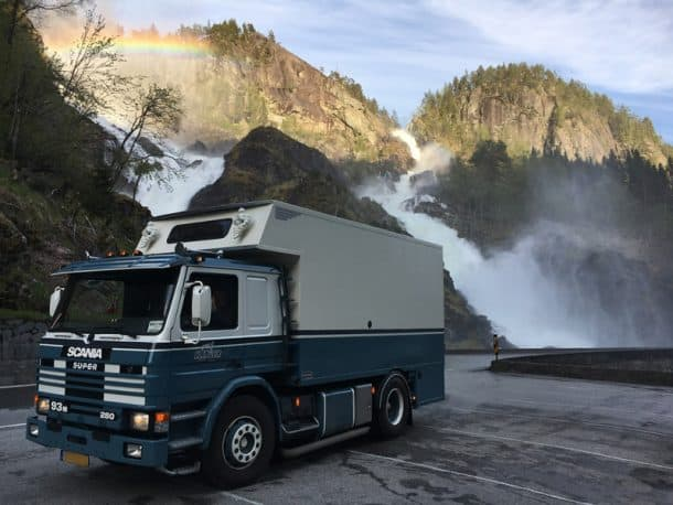 #254 - MG SlingerlandNorway1992 Scania 93 M2016 self made camperCamera Used - iPhoneWe bought the truck in France in a bad state.  We restored it ourselves in Holland.  We bought the swap body in 2015, shortened it ourselves and made a camper inside it.  We use it for holidays and camping.  We can even live in it if we want.