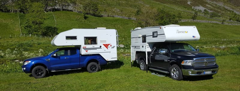Truck campers in Norway