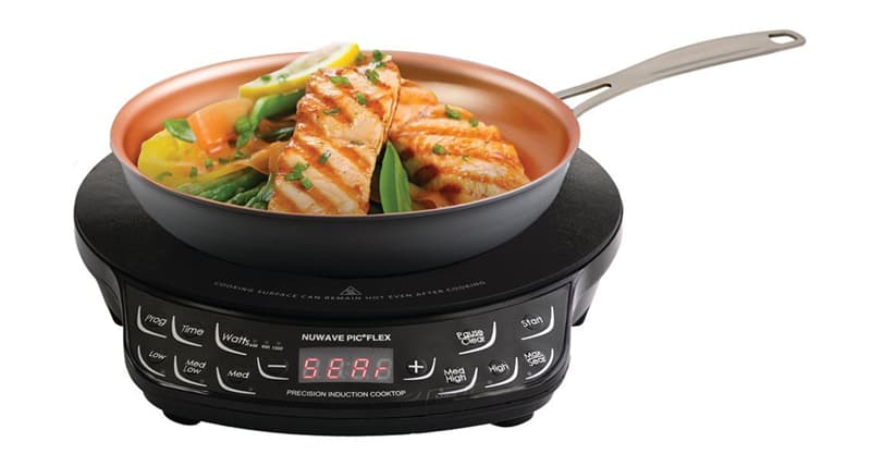 NuWave induction cooktop while camping