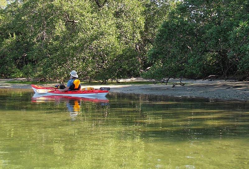 Kayaking at Ft DeSoto, Florida