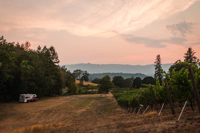 Oregon Winery Overnight Stay