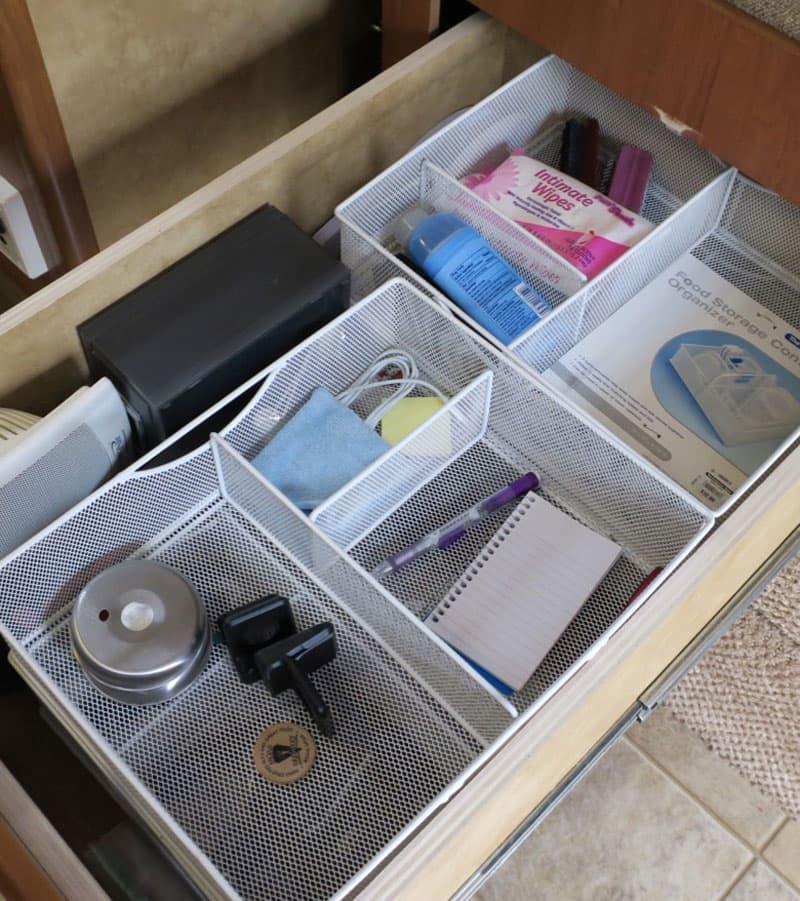 Organization Metal Bins In Kitchen Drawers