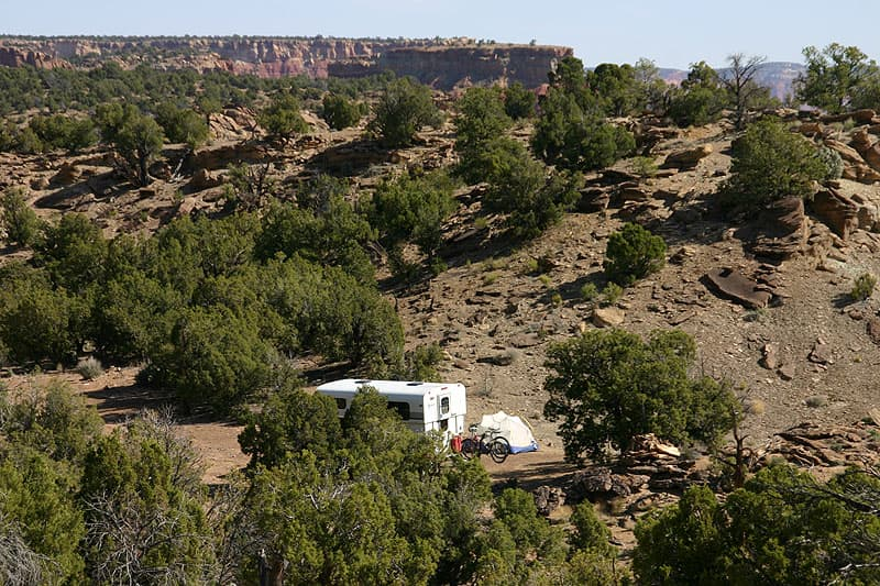 Campsite North of Long Canyon on the Burr Trail