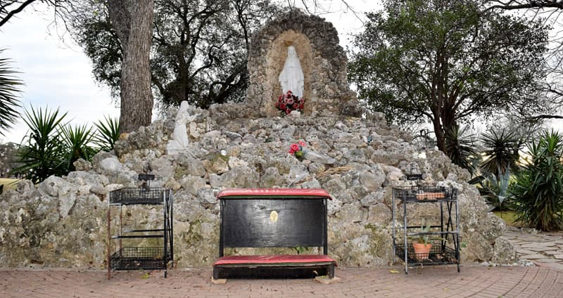 Grotto of Our Lady of Lourdes at Mission Concepción