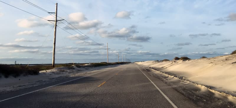 Outer Banks Island Sand Across Road