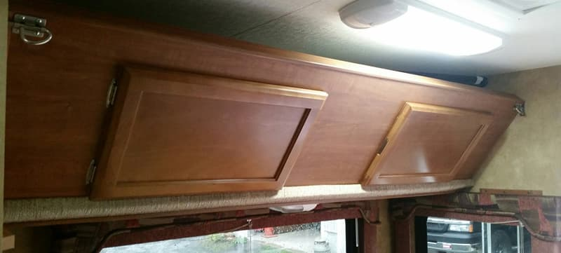 Overhead Bunk in Lance Camper