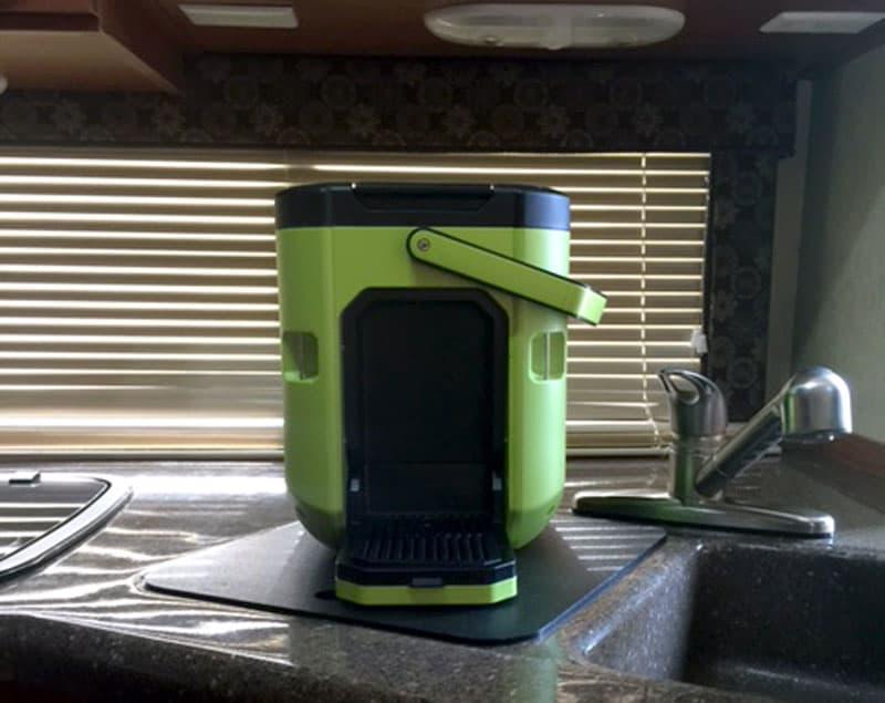 Oxx coffee box in a camper