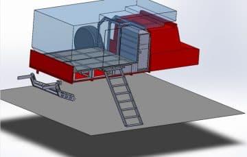 Platform with ladder