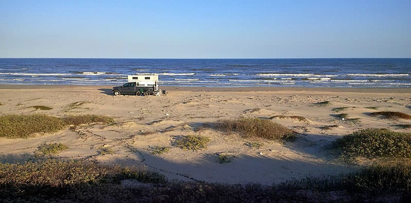Dry camping Padre Island, Texas