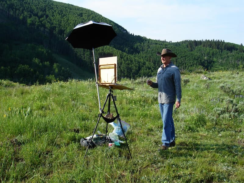 Painting Near Crested Butte