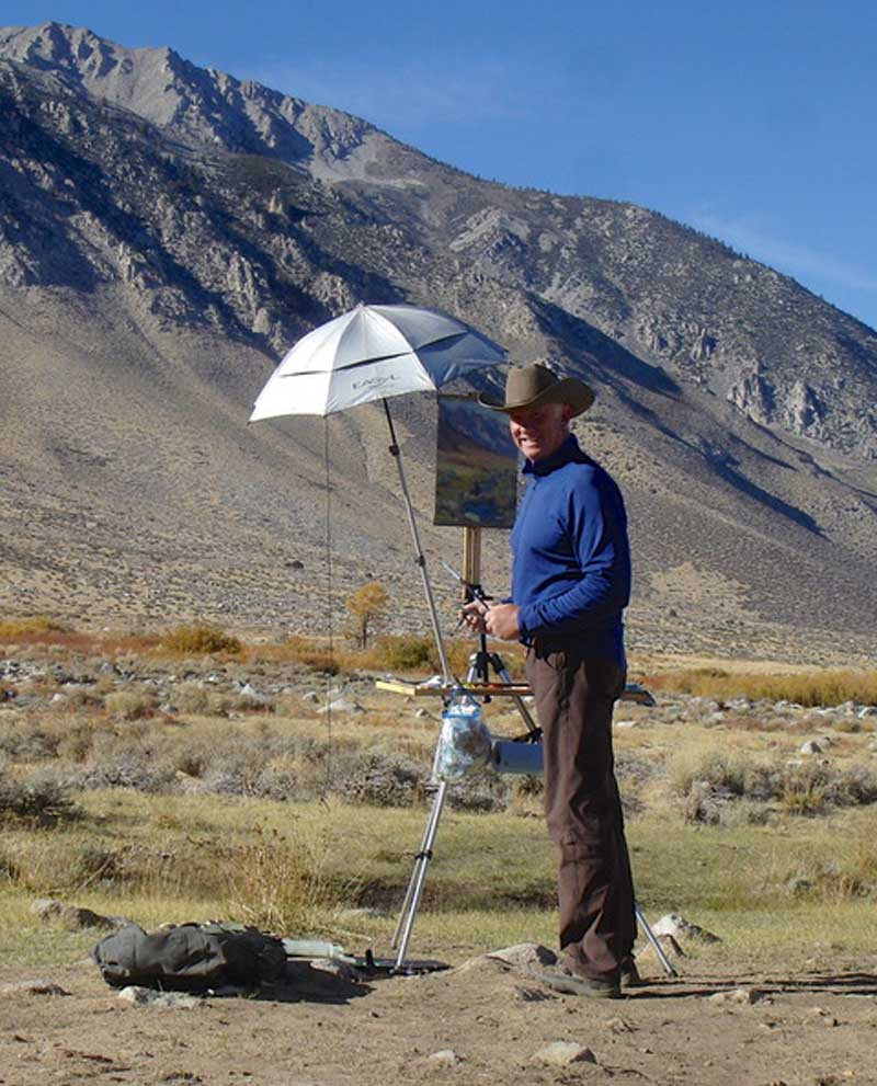 Painting On Location Near Bishop California