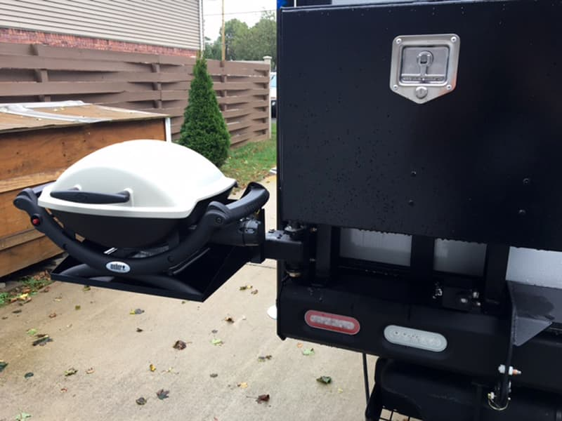 Palomino Bumper with swing out Weber Grill