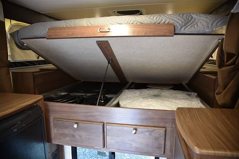 Palomino pop-up camper under bed storage