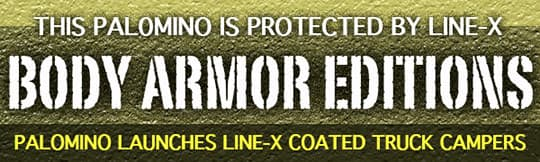 Palomino body armor Line X campers