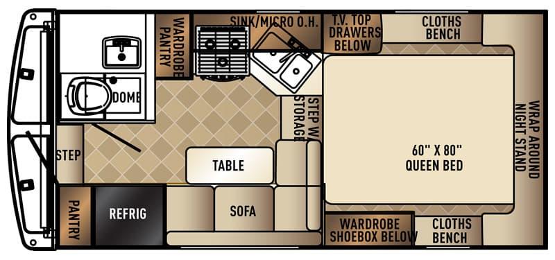 Floor plan of the Palomino HS-2901