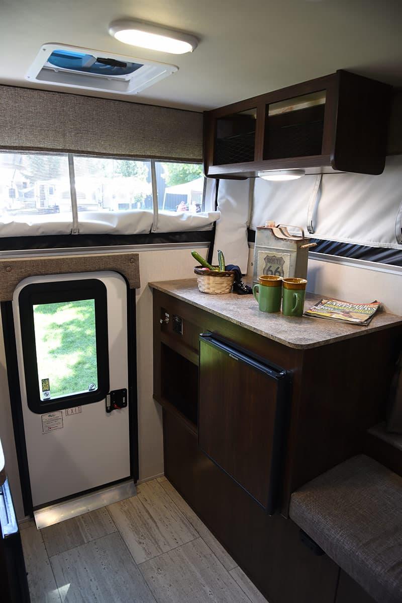 Palomino Camper storage and refrigerator