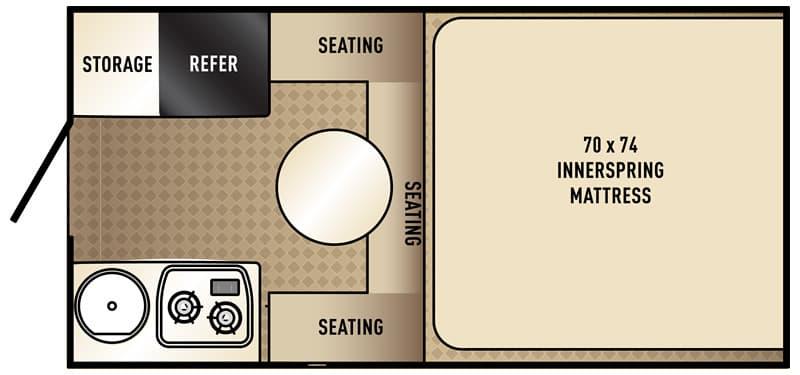 Palomino SS-500 truck camper floor plan