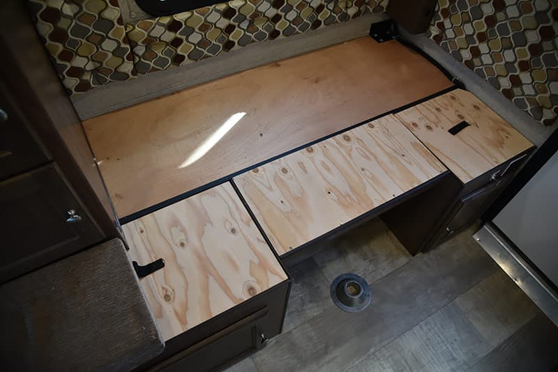 Dinette into bed wood down first