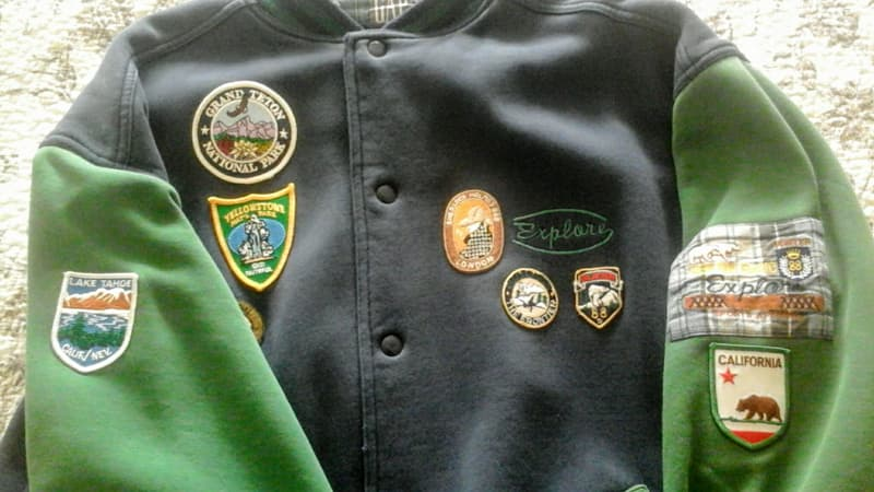 Patches on Jacket Front