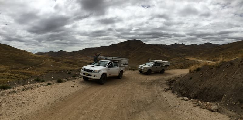 Two Four Wheel Campers in Peru