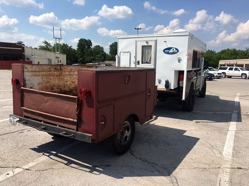 Pick-up bed utility trailer