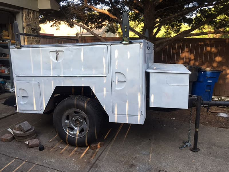 Pick up bed utility trailer finished