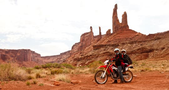 world-ready-rig-White-Rim-Trail-motorcycle-ahead