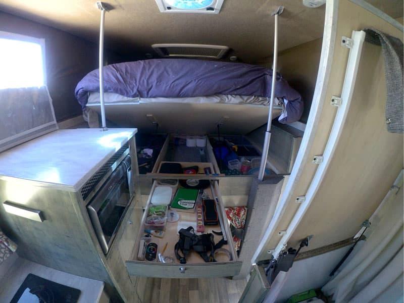 Storage under theirTempur-Pedic mattress