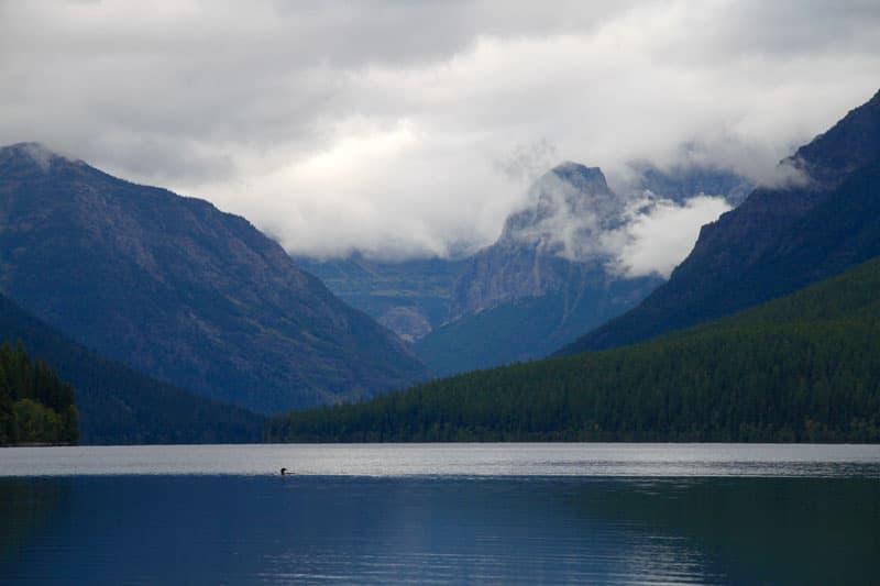 Bowman Lake Glacier Montana