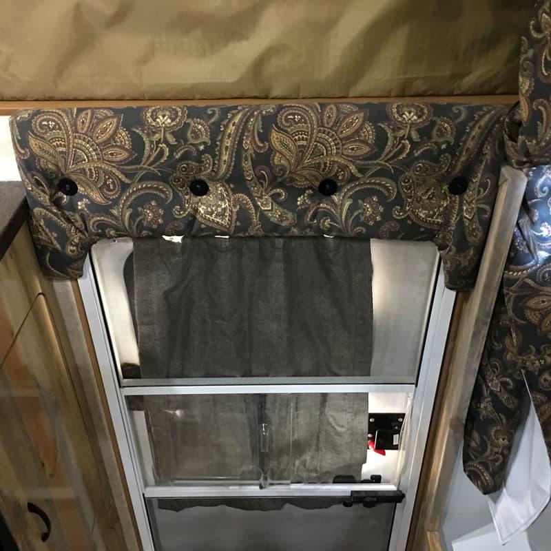 built in head bumper pad over the entry door
