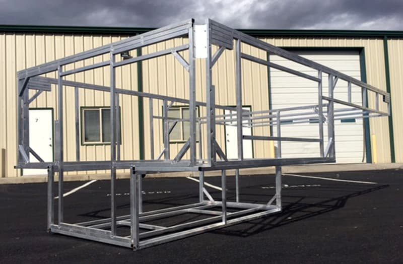 Phoenix double welded aluminum frame structure
