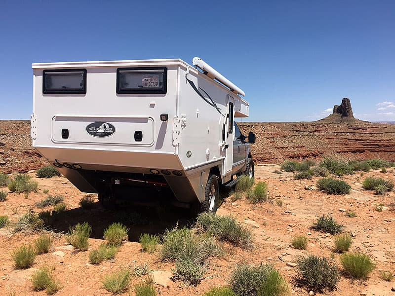 Departure angle on Phoenix flatbed camper