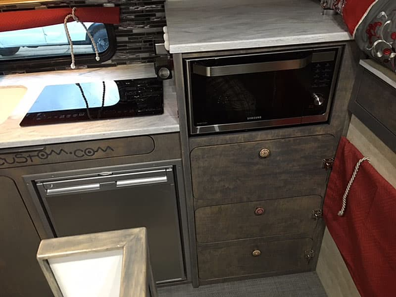 Induction stove top in truck camper