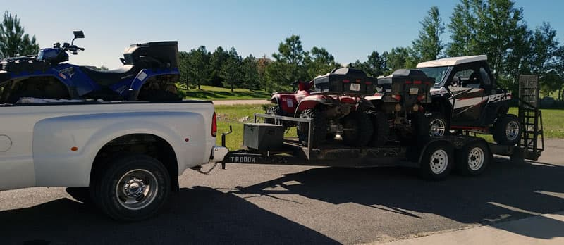 Pickup To Tow ATVs