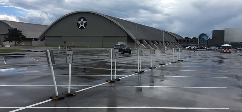 Parking at the National Museum of the United States Air Force